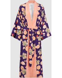 Racil - Hatsumomo Floral-print Silk Kimono Jacket - Lyst