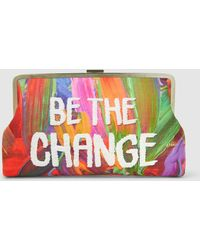 Sarah's Bag - Be The Change Embellished Embroidered Clutch - Lyst