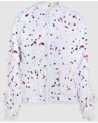 MSGM - Printed Tweed Jacket - Lyst