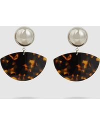Rachel Comey - Susa Tortoise Acrylic Earrings - Lyst