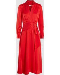 Equipment Vivienne Silk-blend Dress - Red