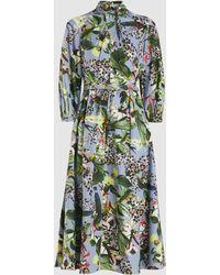Erdem - Adrienne Printed Cotton Midi Dress - Lyst