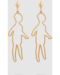 Simone Rocha - Gold-plated Doll Earrings - Lyst
