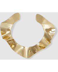 Arme De L'Amour - Ruffled Gold-tone Brass Choker - Lyst
