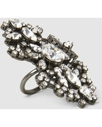 Erickson Beamon - China Club Embellished Pewter-tone Ring - Lyst