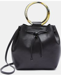 Theory - Leather Hoop Handle Shoulder Bag - Lyst