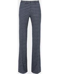 Theory - Geometric Wool Flare Pant - Lyst