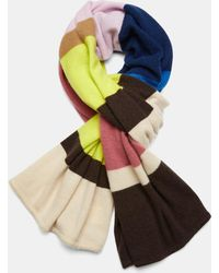 Theory - Cashmere Striped Blanket Scarf - Lyst