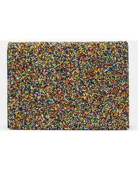 Theory - Foldover Clutch With Beading - Lyst