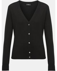 f5afc54527d6d Lyst - Vince Reversible Wool-cashmere Cardigan Coat in Black