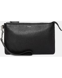 Theory - Pebble Leather Tech Pouch - Lyst