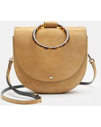 Theory - Large Whitney Bag With Resin Hoop In Suede - Lyst