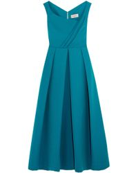 Preen By Thornton Bregazzi - Woman Nokomis Off-the-shoulder Embroidered Chiffon And Lace Dress Teal - Lyst