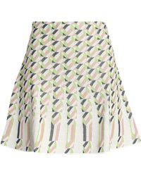 M Missoni - Pleated Jacquard Mini Skirt - Lyst