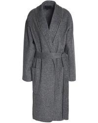Alexander Wang - Belted Embellished Felt Coat - Lyst