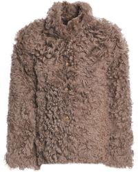Karl Donoghue - Woman Shearling Coat Mushroom - Lyst