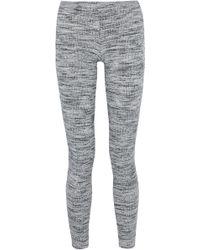 Splendid - Marled Ribbed-knit Leggings - Lyst