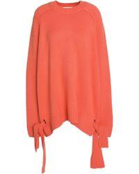 Tibi - Oversized Knot-detailed Cashmere Jumper - Lyst