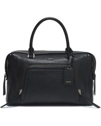 DKNY - Textured-leather Shoulder Bag - Lyst