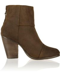 Rag & Bone - Woman Classic Newbury Suede Ankle Boots Brown Size 35 - Lyst