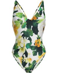 Lenny Niemeyer - Woman Floral-print Swimsuit Off-white - Lyst
