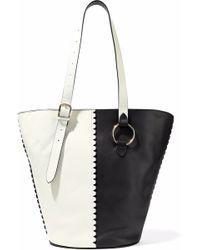 Diane von Furstenberg - East/west Two-tone Leather Bucket Bag - Lyst