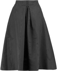 Nina Ricci - Pleated Silk-shell Skirt - Lyst