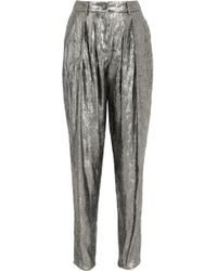 Michael Kors - Metallic Crinkled Jacquard Tapered Trousers - Lyst