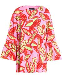 Boutique Moschino - Floral-print Woven Cotton-blend Coat - Lyst
