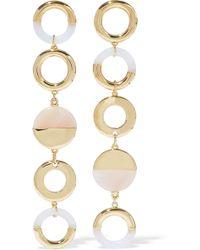 Noir Jewelry - Steady Glow 14-karat Gold-plated Resin Earrings - Lyst