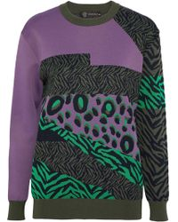 Versace - Intarsia-knit Sweater - Lyst