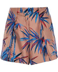 Emilio Pucci - Printed Silk-twill Mini Shorts - Lyst