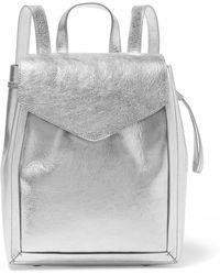 Loeffler Randall - Metallic Textured-leather Backpack - Lyst
