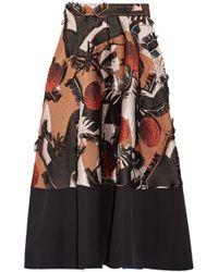 ROKSANDA - Fringed Silk-blend Jacquard Midi Skirt - Lyst