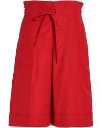 Sonia Rykiel - Cotton-poplin Shorts - Lyst