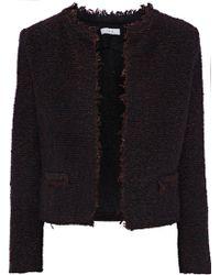 IRO - Cof Frayed Bouclé-tweed Blazer Merlot - Lyst