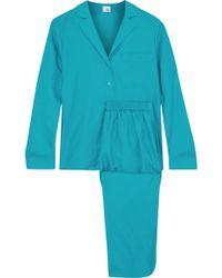 Iris & Ink - Sharon Cotton And Silk-blend Twill Pyjama Set - Lyst