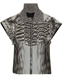 Rick Owens - Panelled Snakeskin, Cotton-blend Jacquard And Printed Silk-georgette Jacket - Lyst