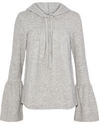 W118 by Walter Baker - Carina Cotton-blend Fleece Hooded Sweatshirt - Lyst