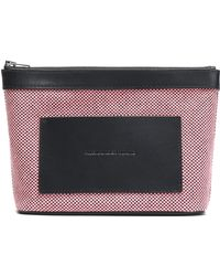 Alexander Wang - Leather-trimmed Woven Cosmetics Case - Lyst