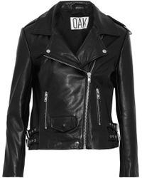 OAK - Ny Rider Leather Biker Jacket Black - Lyst