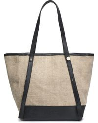 See By Chloé - Leather-trimmed Canvas Tote - Lyst