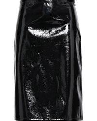 Helmut Lang - Woman Vinyl Skirt Black - Lyst
