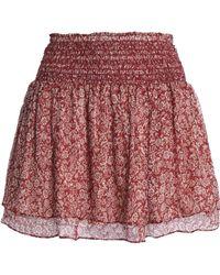 Vanessa Bruno Athé - Holly Metallic Floral-print Silk-blend Chiffon Mini Skirt - Lyst