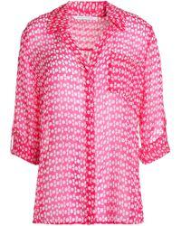Diane von Furstenberg - Lorelei Printed Silk-chiffon Shirt - Lyst