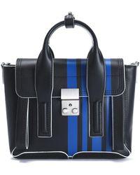 3.1 Phillip Lim - Pashli Striped Leather Shoulder Bag - Lyst
