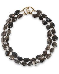 Kenneth Jay Lane - Gold-tone Stone Necklace - Lyst