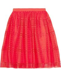 MICHAEL Michael Kors | Flared Guipure Lace Skirt | Lyst