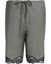 Alexander Wang - Lace-trimmed Wool And Mohair-blend Shorts - Lyst