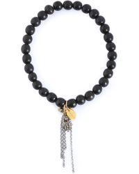 Chan Luu - Silver-plated, Horn And Diamond Beaded Bracelet - Lyst